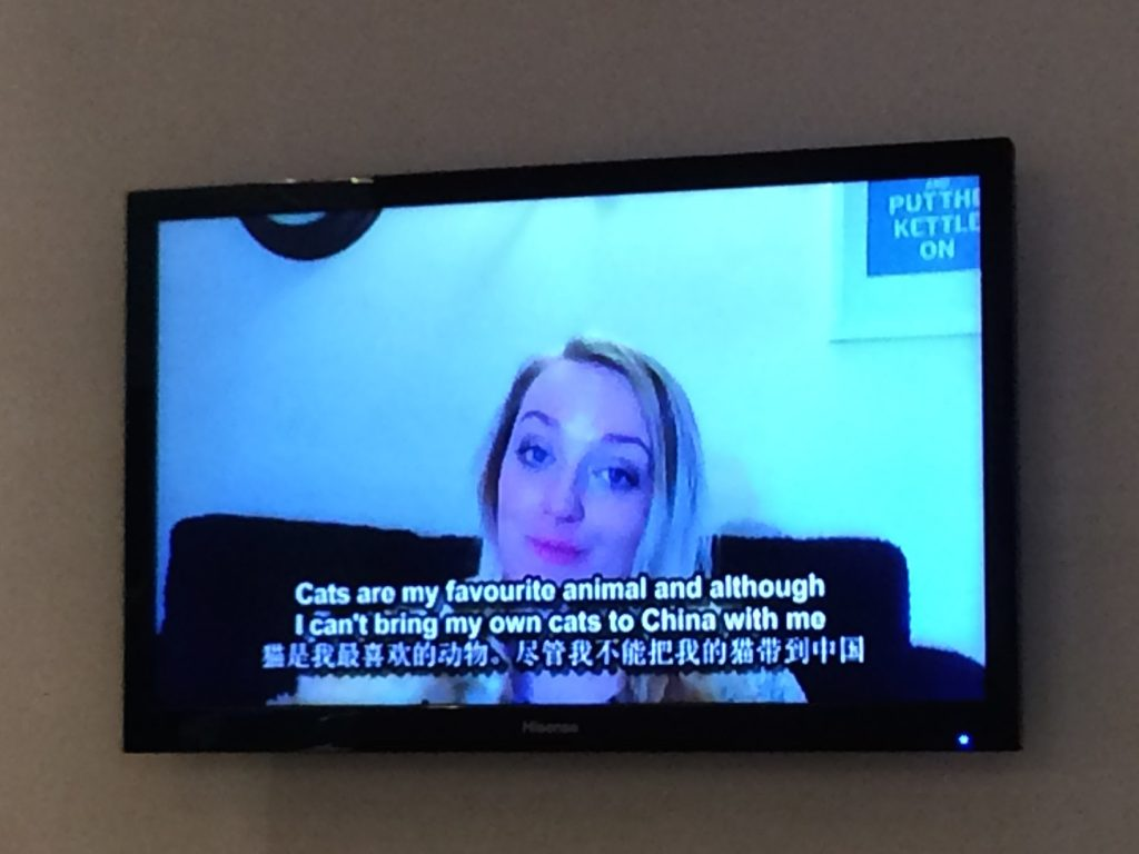On TV in China
