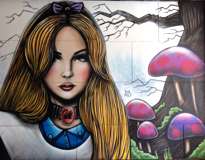 Alice In Wonderland Street Art Fremantle